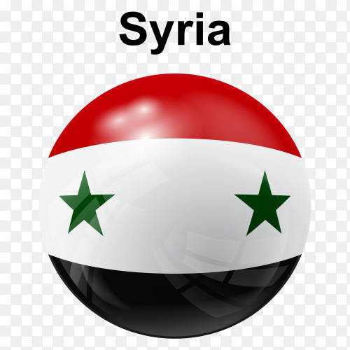 Circle glossy flag syria transparent PNG