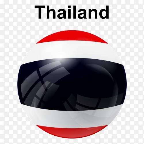 Circle glossy flag thailand transparent PNG