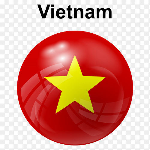 Circle glossy flag vietnam transparent PNG