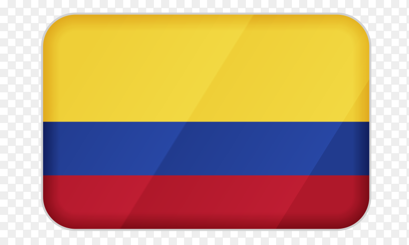 Colombia flag icon on transparent background PNG