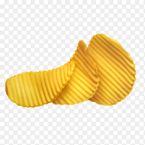 Crunchy chips vector transparent PNG