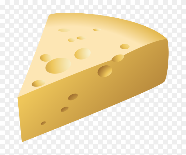 Delicious cheese slice transparent PNG