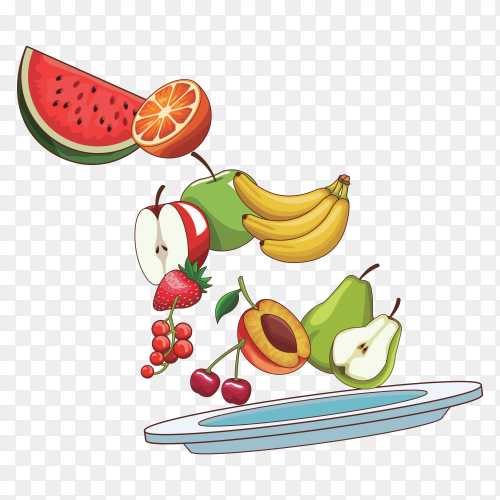 Delicious fresh fruit on transparent background PNG