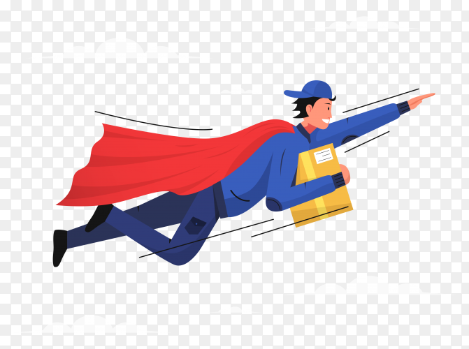Delivery man illustration transparent PNG