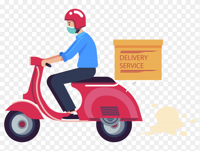 Delivery man with mask vector royalty free PNG