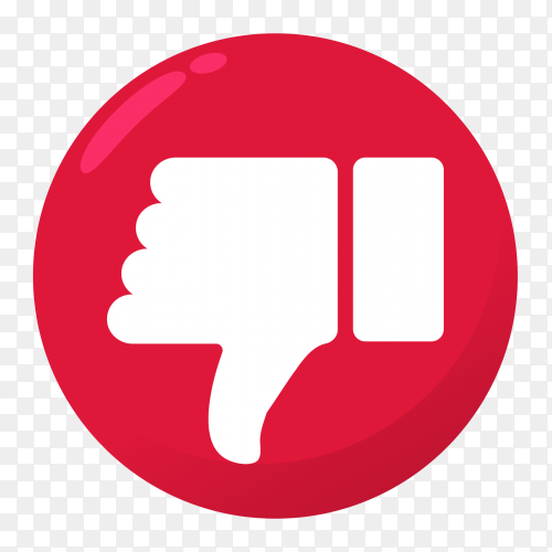 Dislike icon transparent PNG
