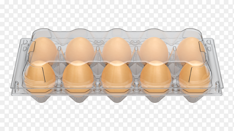 Eggs in box transparent PNG