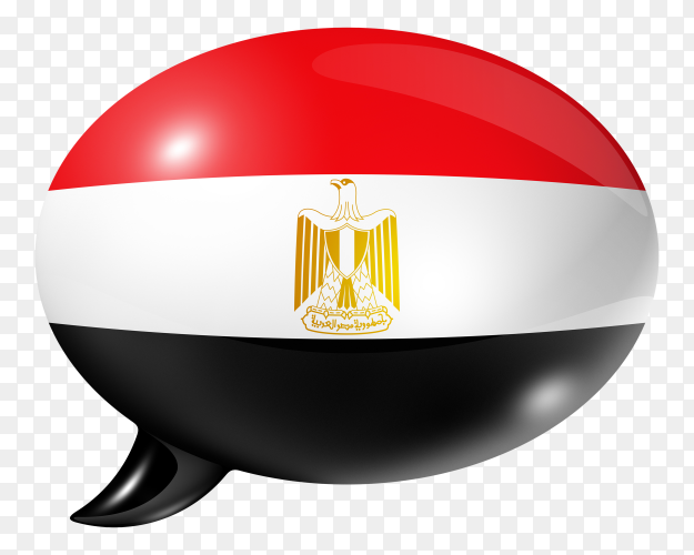 Egyptian flag – Egypt flag shaped speech bubble transparent PNG