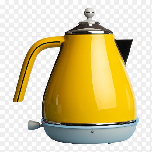 Electric vintage retro kettle image PNG