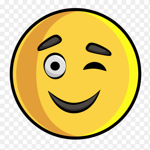 Emoji Wink clipart PNG