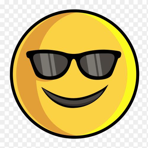 Emoji sunglasses clipart PNG