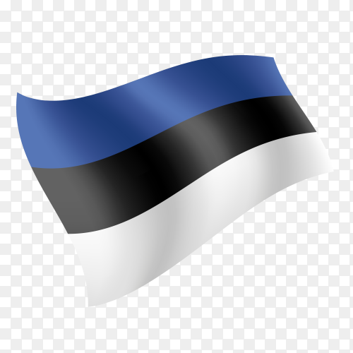Estonia flag waving vector on transparent background PNG