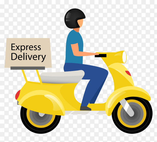 Express delivery flat vector transparent PNG