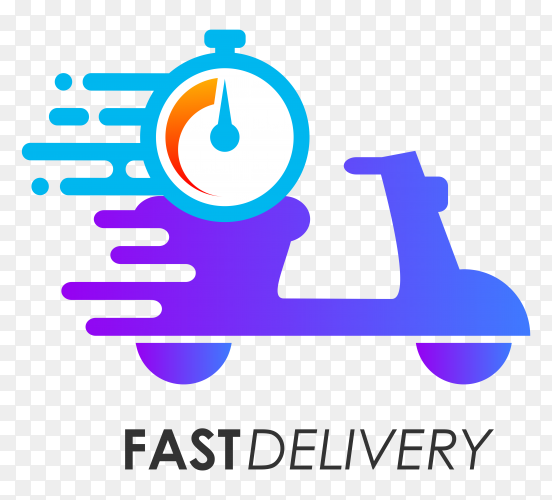 Fast delivery logo design vector PNG