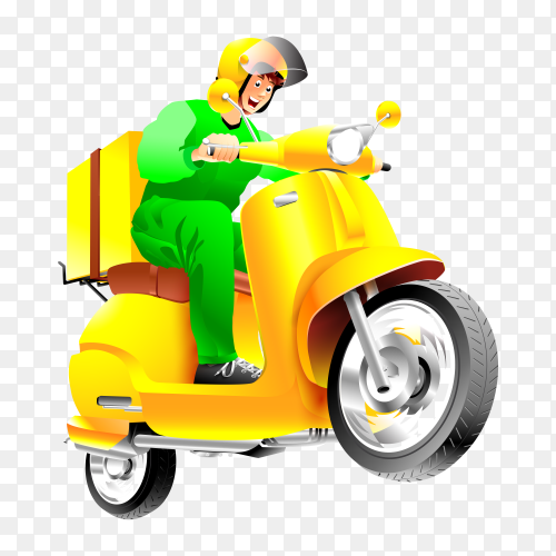 Fast delivery man vector PNG