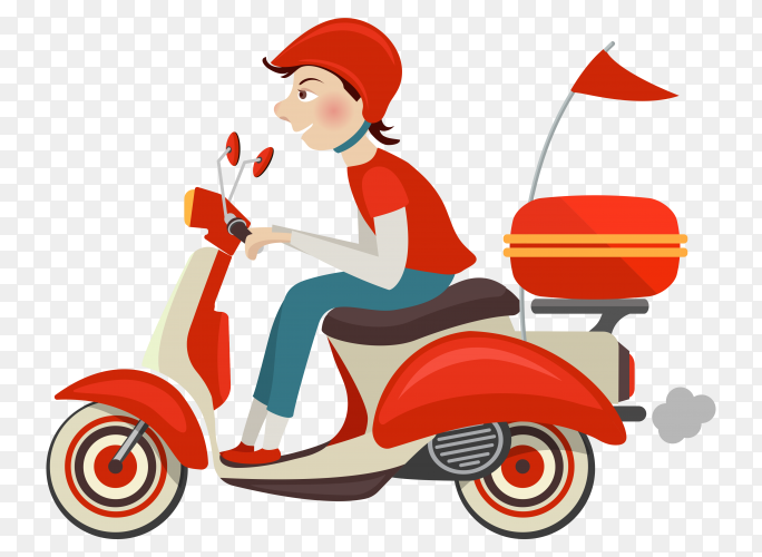 Fast delivery person royalty free PNG