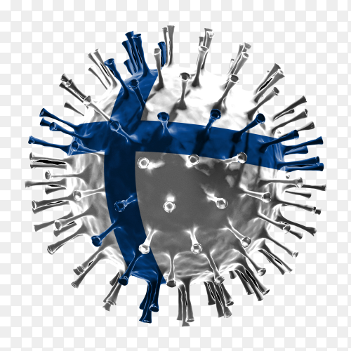 Finland flag Shaped covid-19 virus transparent PNG