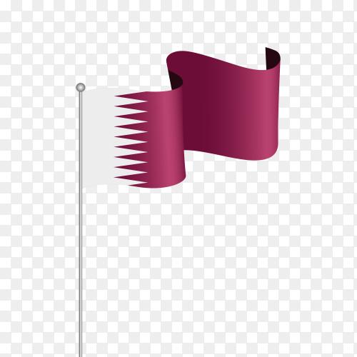 Flag flutters qatar vector PNG