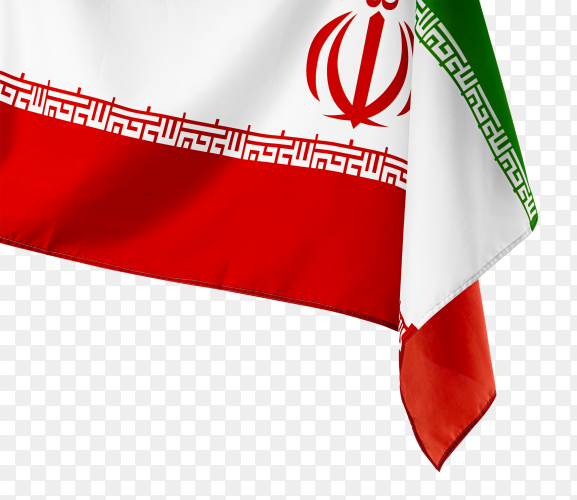 Flag of iran on transparent background PNG