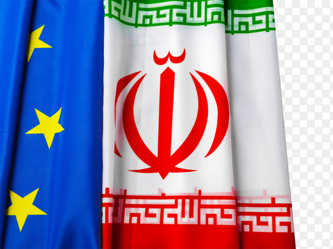 Flags of iran and european union flag free download PNG