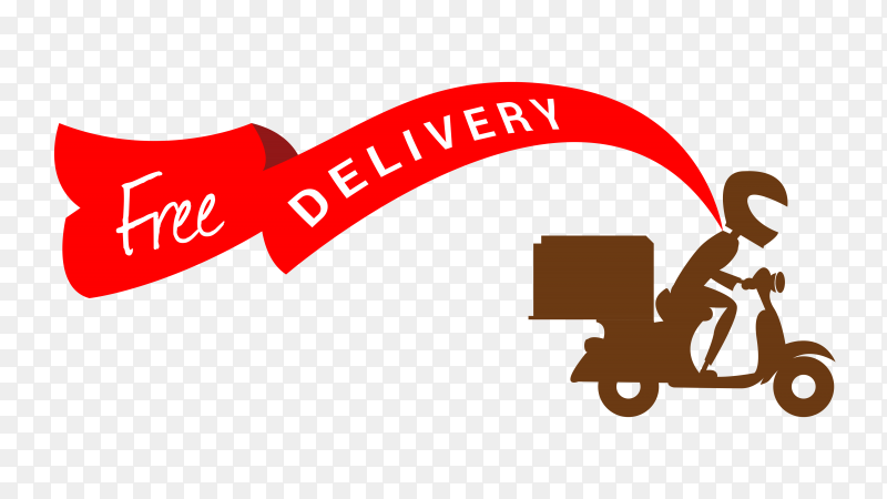 Free delivery vector royalty free PNG
