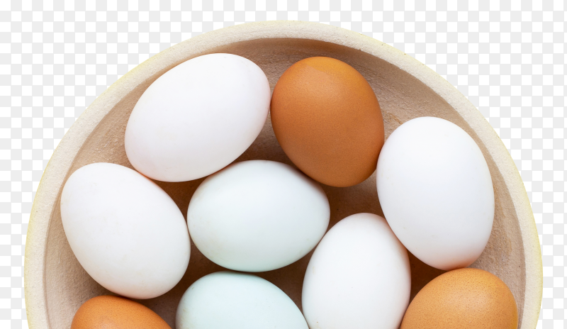 Fresh eggs in a dish transparent PNG