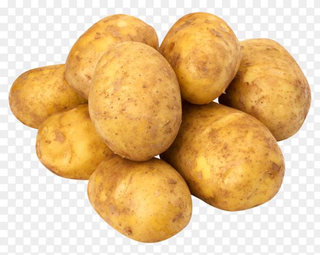Fresh organic potatoes premium image PNG