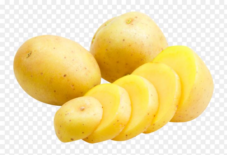 Fresh potatoes photo PNG