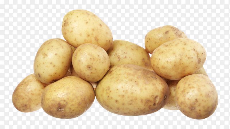 Fresh potatoes premium photo PNG