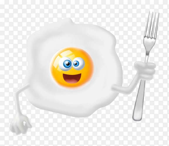 Fried egg premium image transparent PNG