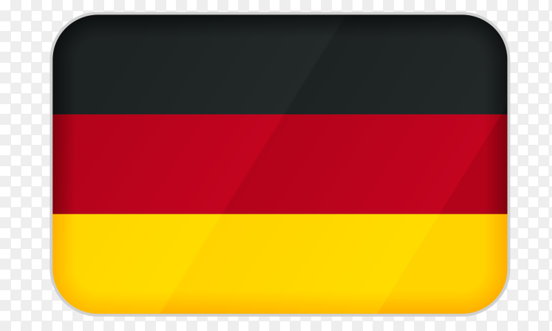 Germany flag icon on transparent background PNG