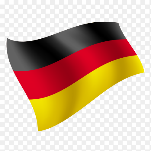 Germany flag waving vector on transparent background PNG