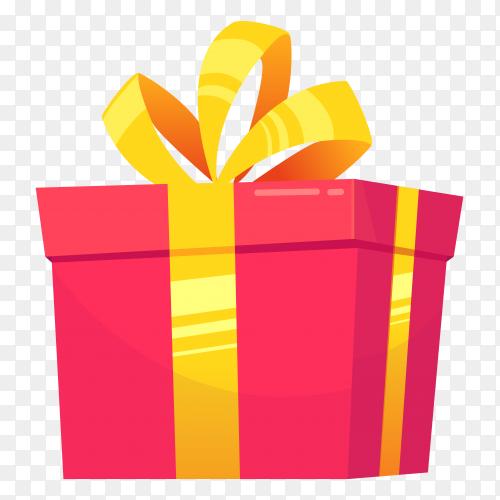 Gift box pink – vector PNG
