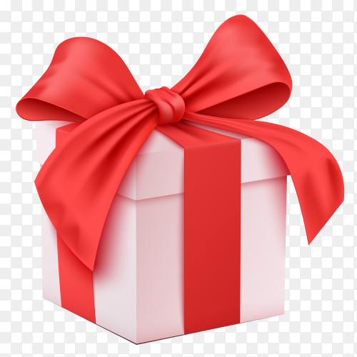 Gift box white illustration transparent PNG