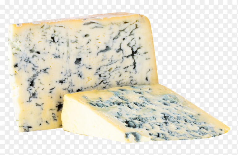 Gorgonzola cheese on transparent background PNG