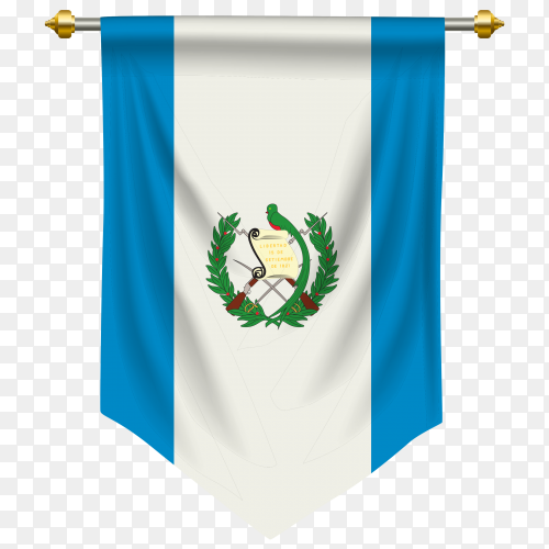 Guatemala pennant flag clipart PNG