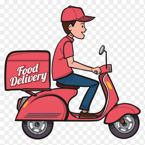 Hand drawn delivery man transparent PNG