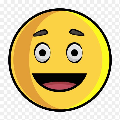 Happy Emoji on transparent background PNG