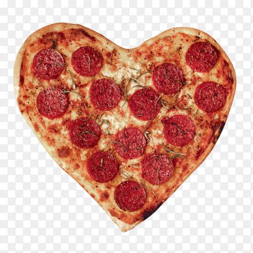 Heart pizza with mozzarella – transparent PNG