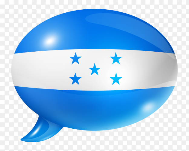 Honduras flag shaped speech bubble transparent PNG