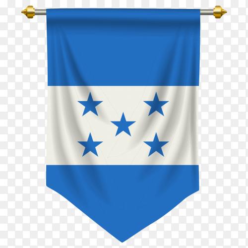 Honduras pennant flag vector PNG
