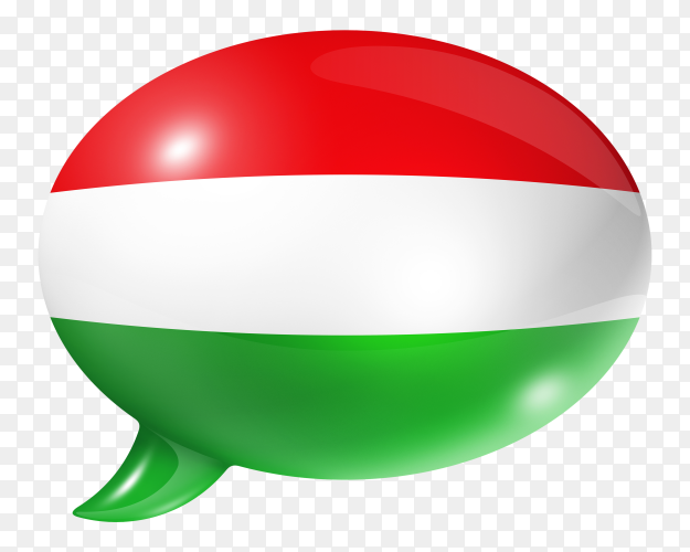 Hungarian flag – Hungary flag shaped speech bubble transparent PNG