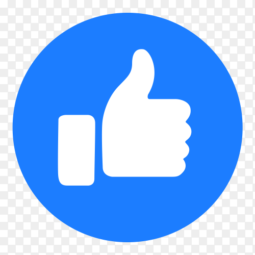 Icon like button transparent PNG