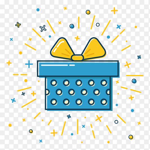 Illustration gift box transparent PNG