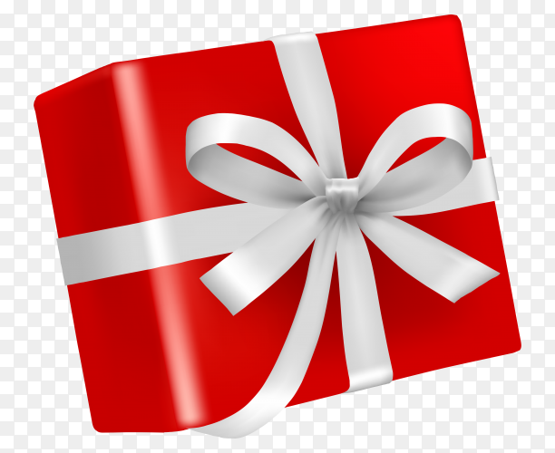 Illustration red gift box – vector PNG