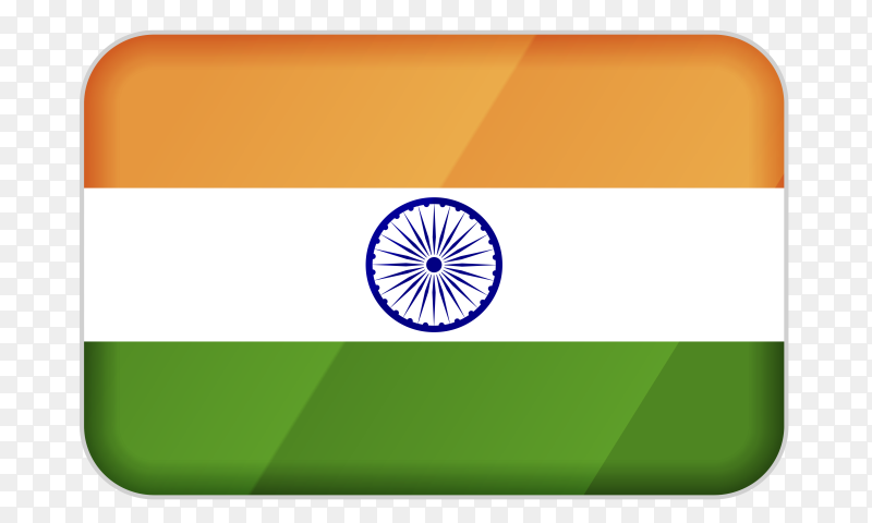 India flag icon on transparent background PNG