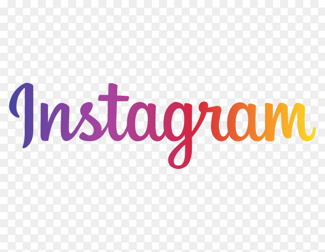 Instagram name logo transparent PNG