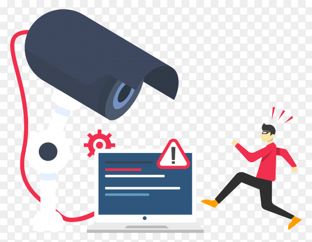 Iot internet with security camera transparent PNG