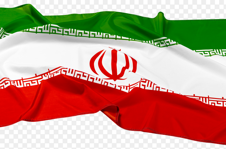 Iran flag on transparent background PNG