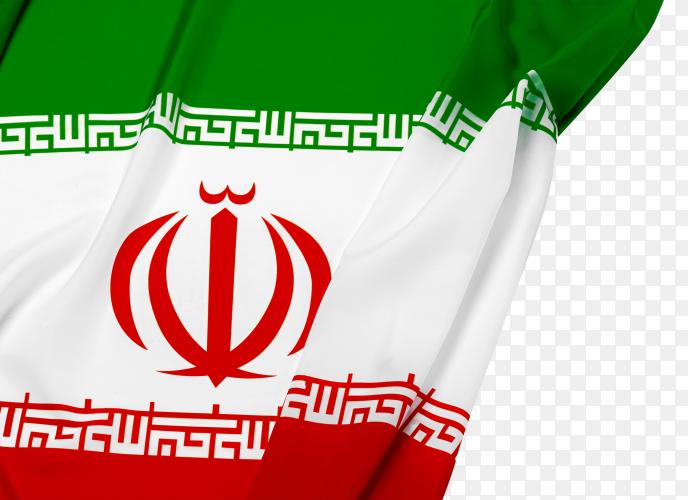 Iran national flag on transparent background PNG